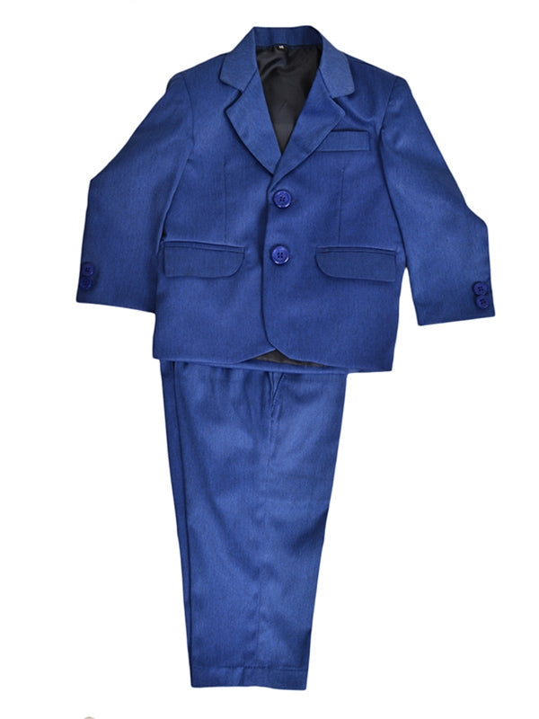 Cut Price 2 PCS Coat Pant Suit for Boys Coat & Pant Ink Blue