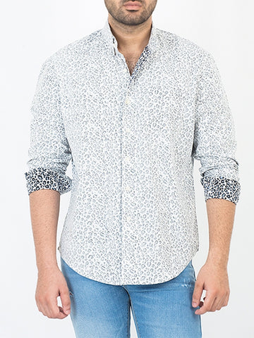 Cut Price Casual Dress Shirt Leopard Print for Men