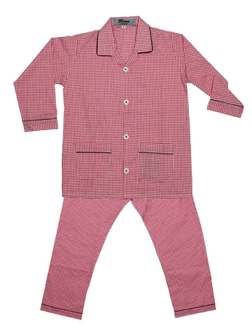Cut Price Kids Cotton Night Suits SH 4YR-16YR Bright Red