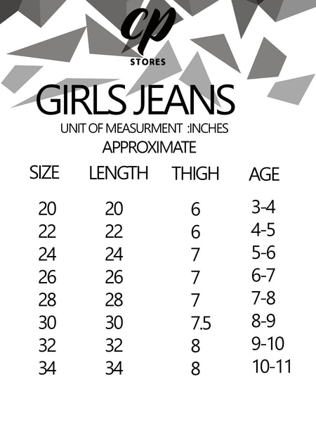 Stretchable Jeans For Girls 3Yrs - 11Yrs Dark Blue