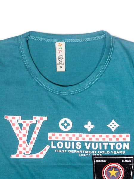 AK1 Boys T-Shirt 2 Yrs - 10 Yrs Printed Louis Green