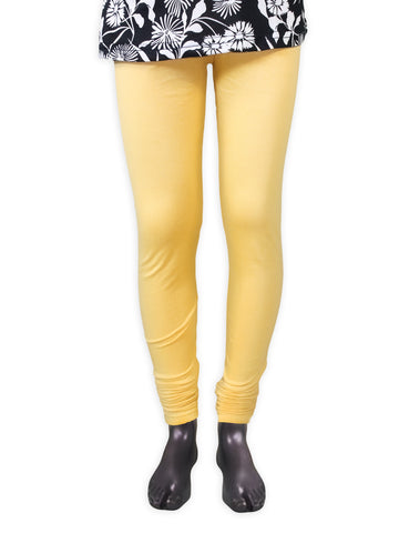 AT1 Leggings Tights For Girls Plain Buff Yellow 4Yrs - 10Yrs