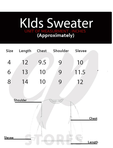 Kids Full Sleeve Sweater Waves Orange