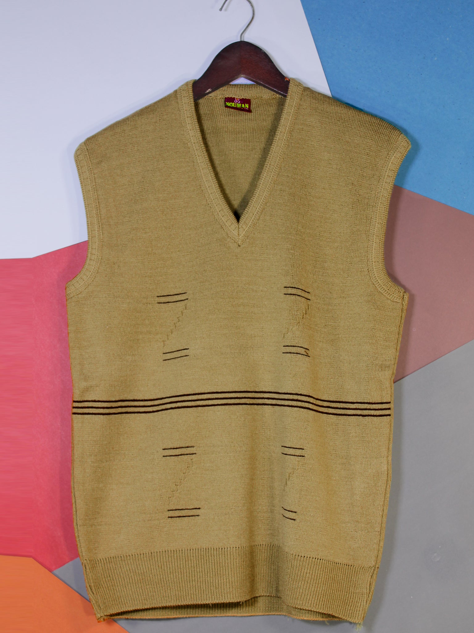 Sleeveless Sweater for Men P1 Lemon Yellow