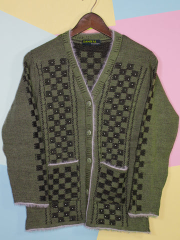 Women Sweaters Cardigan Full Sleeves C2 Pickle Green