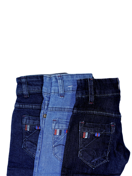 3 Yrs - 13 Yrs Denim Jeans For Boys Dark Blue