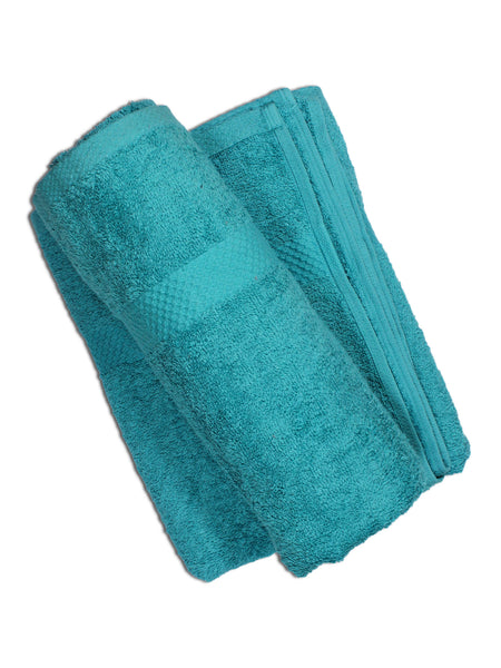 Super Absorber Bath Towel (24*48) Pack of Two Neon Blue