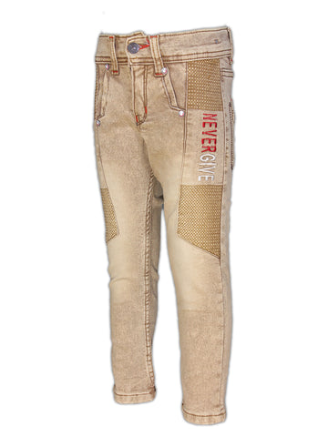 5 Yrs - 15 Yrs Stretchable Jeans For Boys Brown