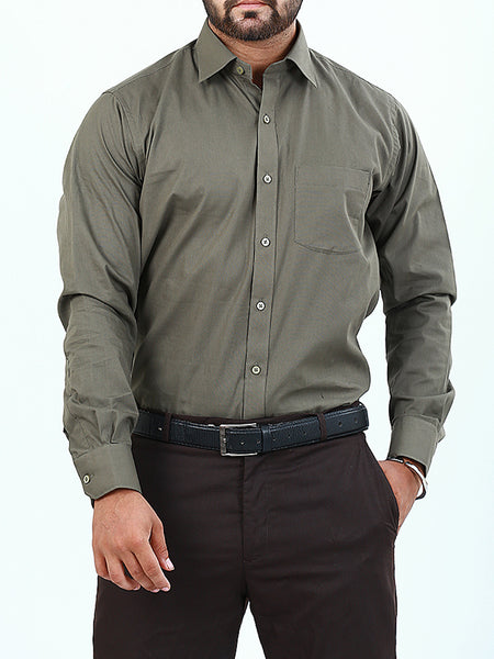 100% Cotton Formal Dress Shirt For Men Taupe