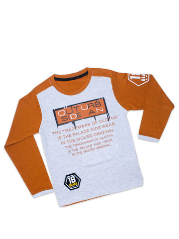 ATT Boys T-Shirt 3 Yrs - 10 Yrs Printed SIDE AN Copper Brown