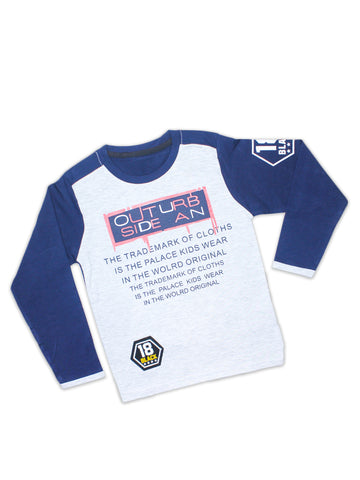 ATT Boys T-Shirt  3 Yrs - 10 Yrs Printed SIDE AN Navy Blue