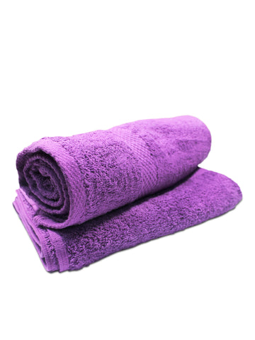 Super Absorber Bath Towel (24*48) Pack of Two Purple