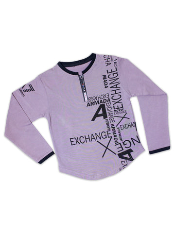 ATT Boys T-Shirt 3 Yrs - 10 Yrs Printed AX Light Purple