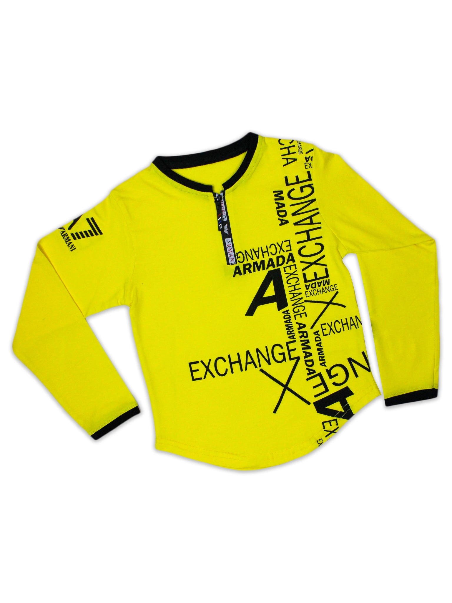 ATT Boys T-Shirt 3 Yrs - 10 Yrs Printed AX Yellow