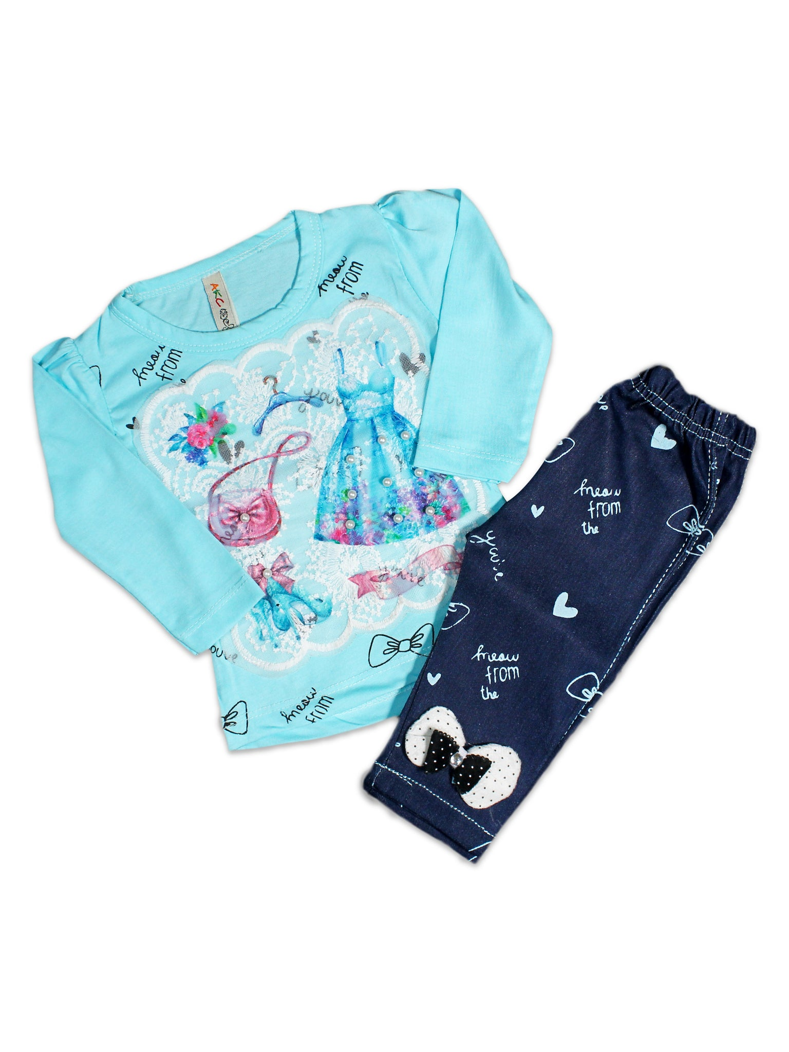 AKC New born Baby Suit 6Mth - 9Mth Dress Blue