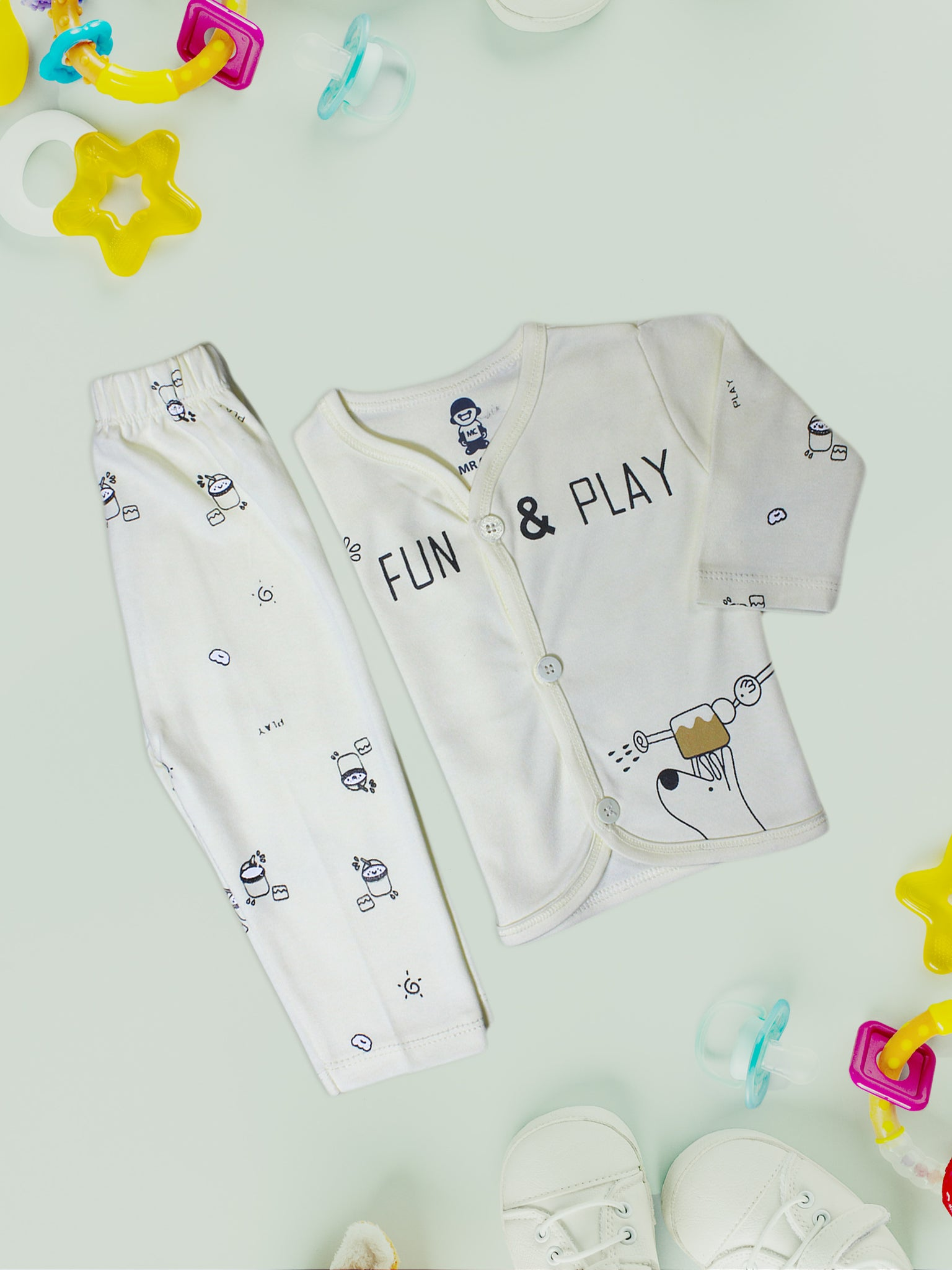 Newborn Suit 4Mth - 10Mth Fun & Play Light Yellow
