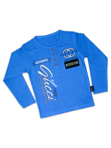 ATT Boys T-Shirt 3 Yrs - 10 Yrs Printed Since 1932 Blue