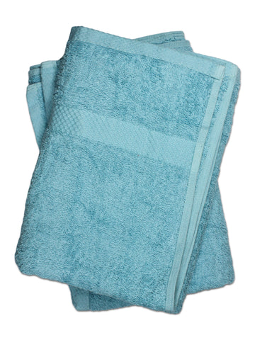 Super Absorber Bath Towel (24*48) Pack of Two Ferozi Blue