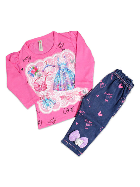 AKC New born Baby Suit 6Mth - 9Mth Dress Pink