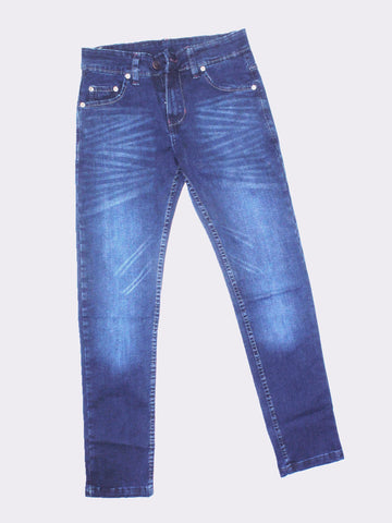 12 Yrs - 16 Yrs Denim Jeans For Boys Dark Blue