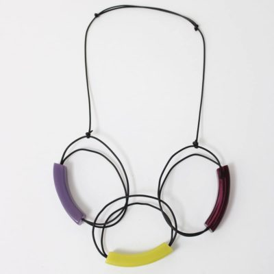 Rubber Tubing Large Loop Ada Necklace