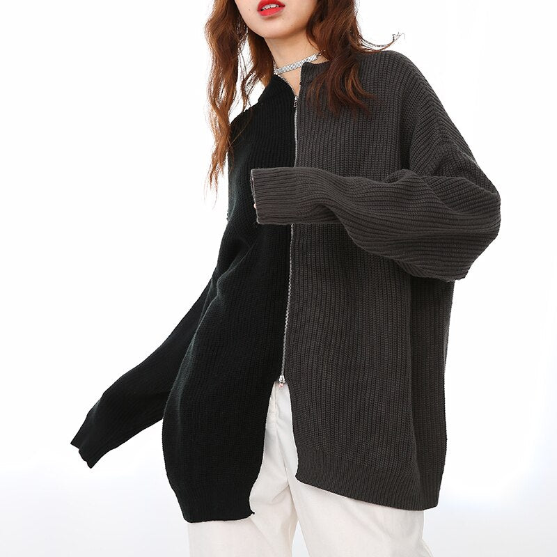 Zip Colorblock Sweater