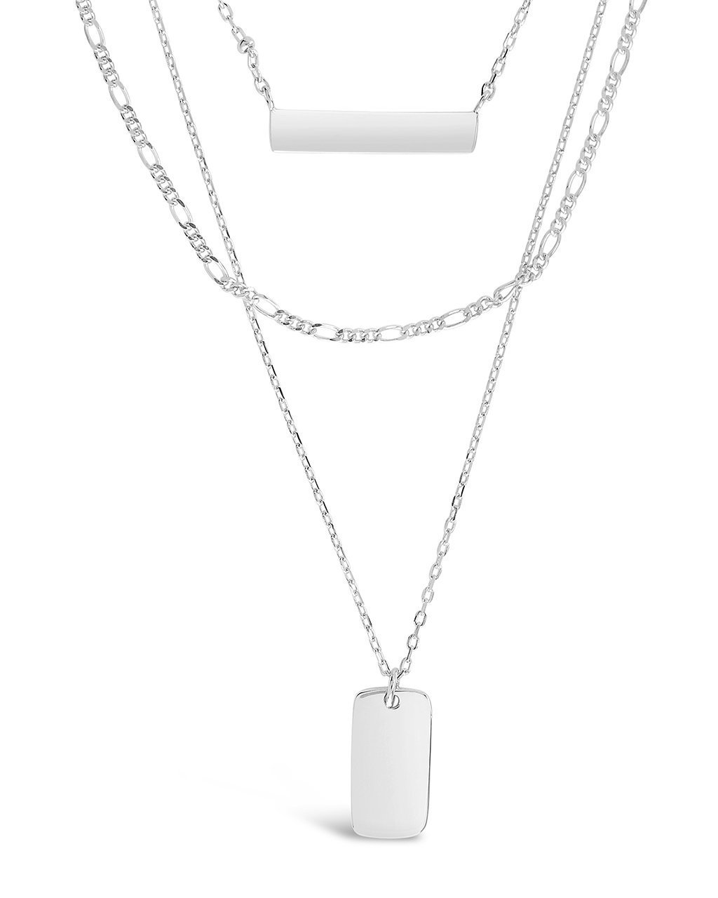 Triple Layered Bar Necklace