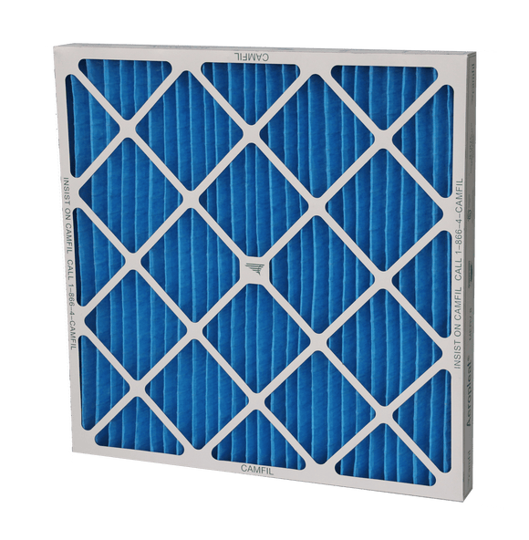 Camfil Aeropleat IV High Capacity MERV 8 Pleated Panel Air Filter - 16x25x4 - Synthetic/cotton blend