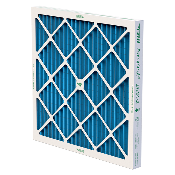 Camfil Aeropleat III Standard Capacity MERV 8 Pleated Panel Air Filter - 24x24x2 - Synthetic/cotton blend