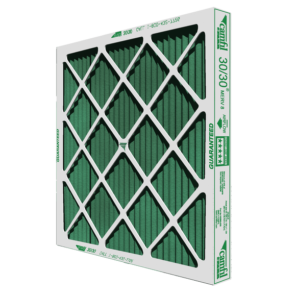 Camfil Farr 30/30 High Capacity MERV 8 Pleated Panel Air Filter - 16x25x4 - Synthetic