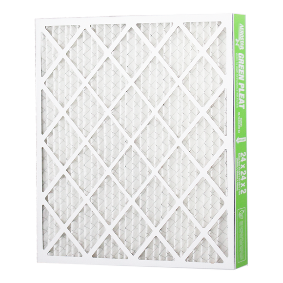 Filtration Group Aerostar Green Pleat High Capacity MERV 13 Pleated Panel Air Filter - 16x24x2 - Synthetic