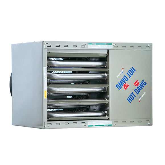 Modine Hot Dawg HD-75 - 75,000 BTU - Unit Heater - NG - 80% AFUE - Power Vented - Aluminized Steel Heat Exchanger