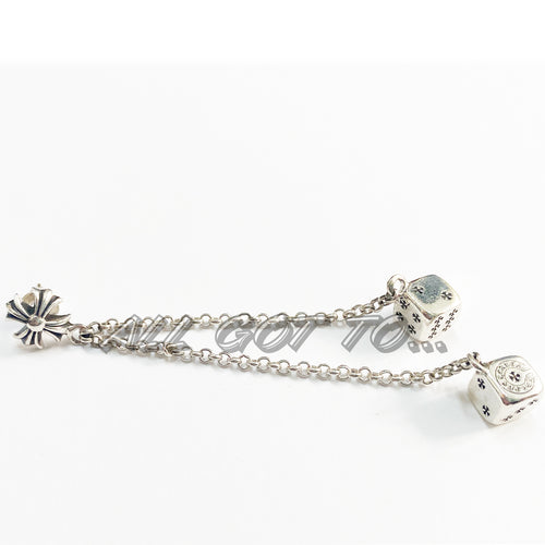 Chrome Hearts Double Dice Earring