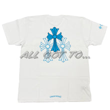 Load image into Gallery viewer, Chrome Hearts Blue Cross Short Sleeve White