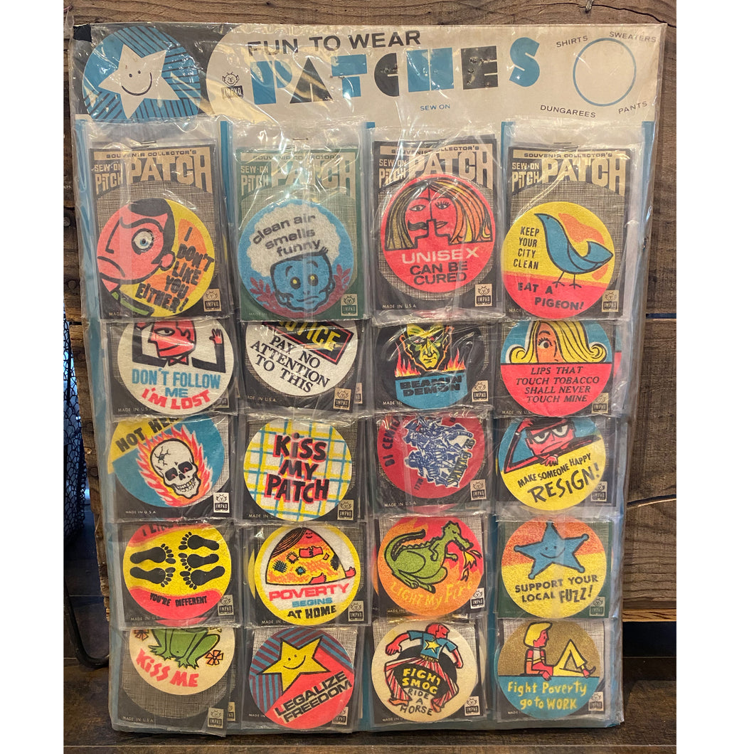 100 Vintage patches