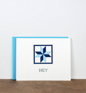 Hey Quilt Letterpress Greeting Card