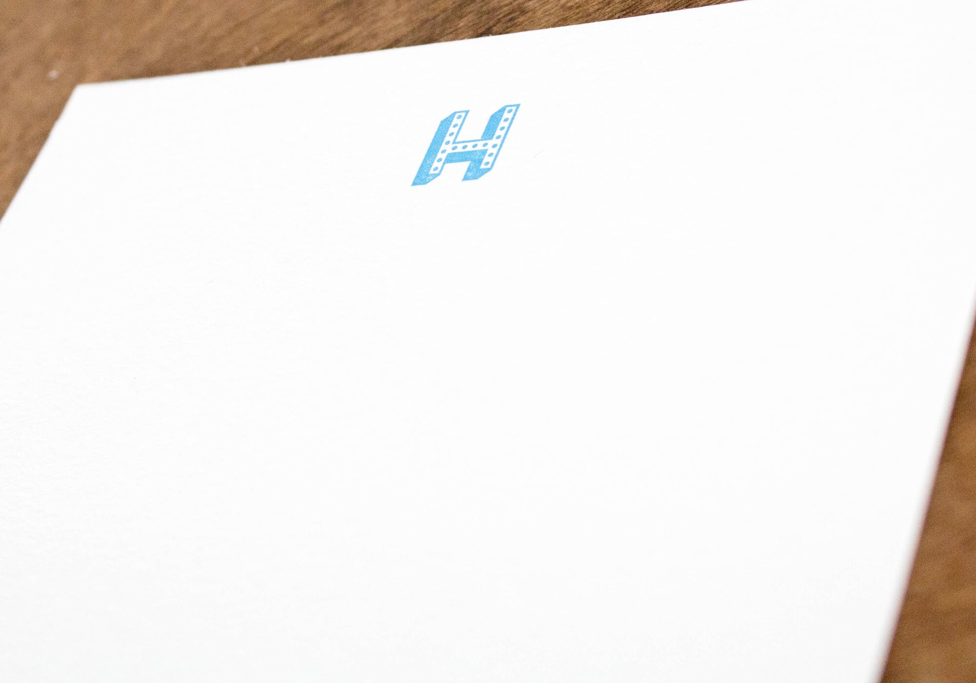 Instock Monogram Dotted Letterpress Notecards - Set of 10