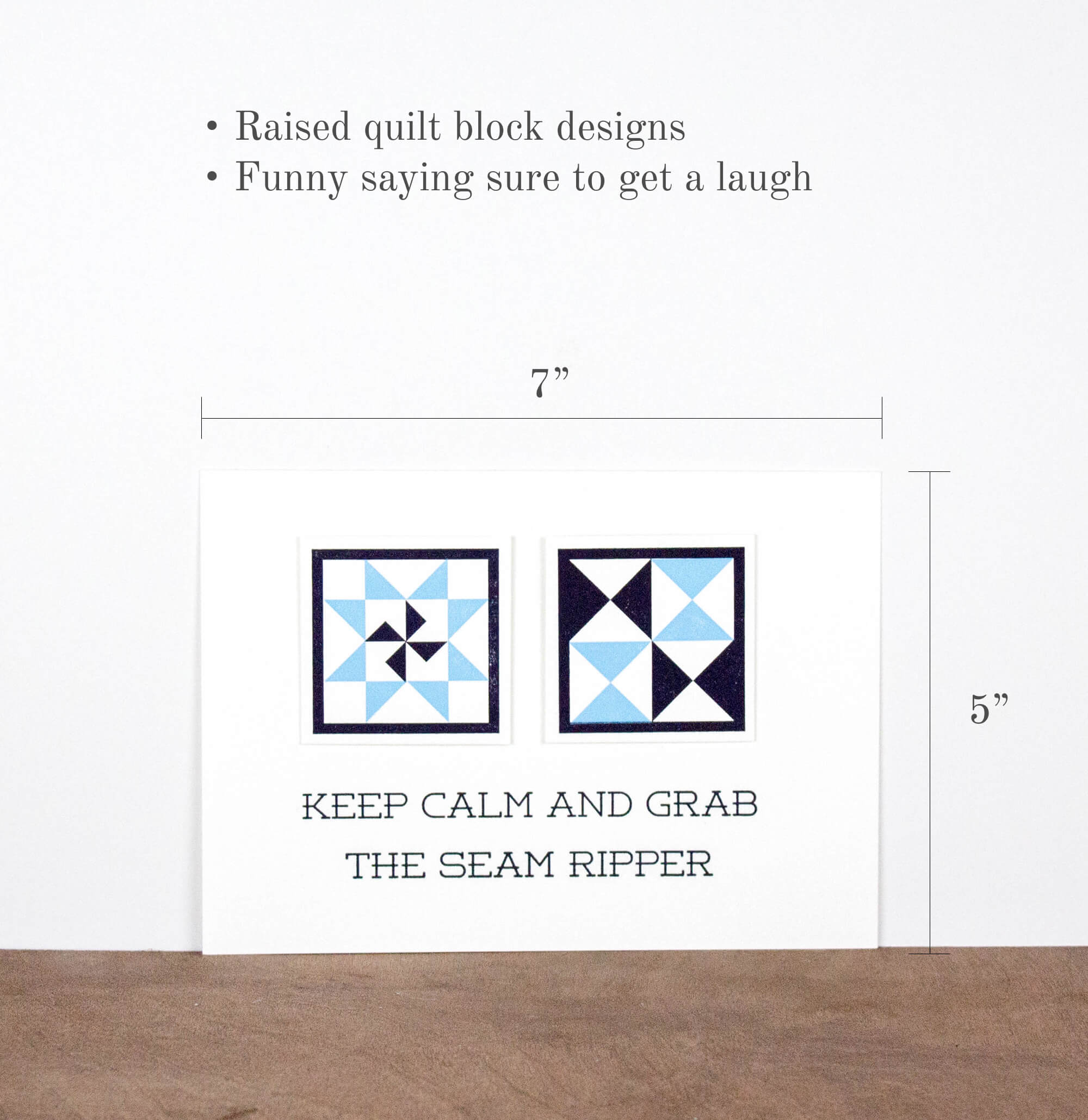Keep Calm And Grab The Seam Ripper 5 x 7 Letterpress Print