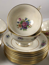 Load image into Gallery viewer, Vintage Lenox Rose Set Of 10 Cups And Saucers J-300