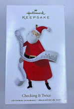 Load image into Gallery viewer, Hallmark Keepsake Ornament Checking It Twice 2010