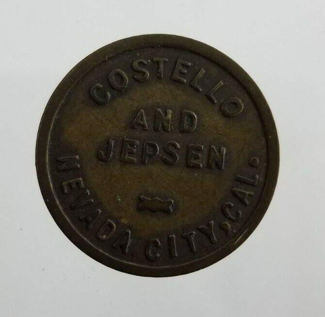 Costello And Jepsen Nevada City Calif California Token: Good For $.10 In Trade