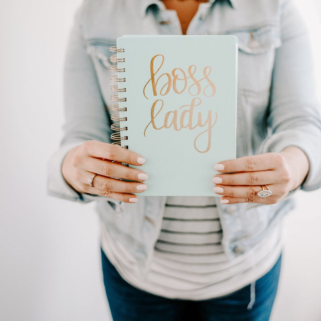 Boss Lady Mint Spiral Notebook is very chic