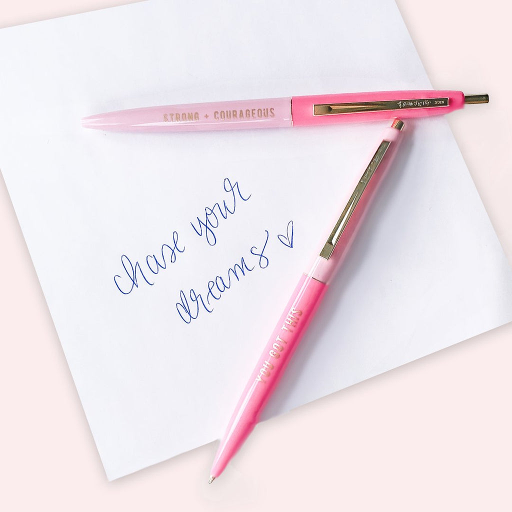 Girl Power Motivational Pen Set