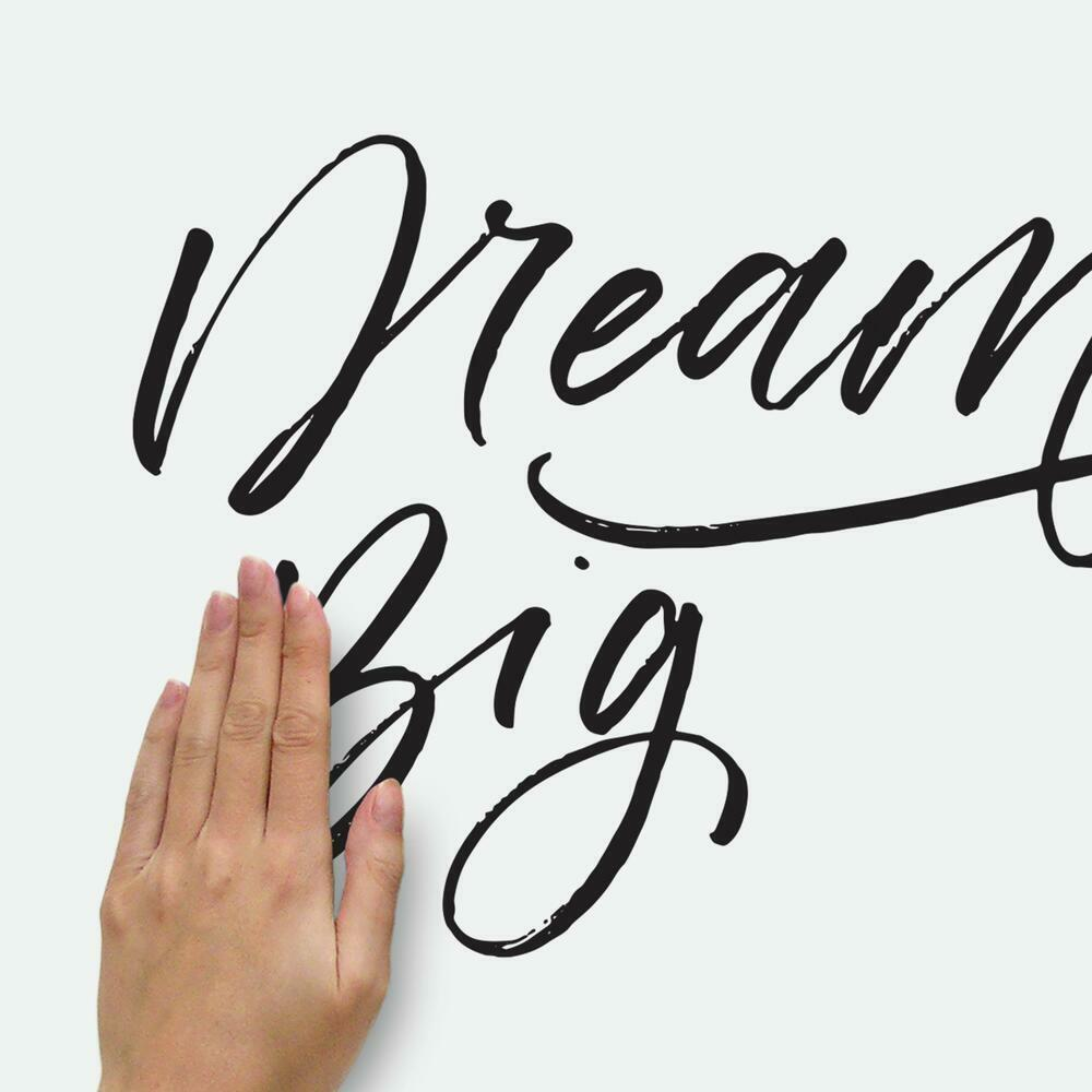 Dream Big Peel and Stick Wall Decals easy to apply to any clean flat surface