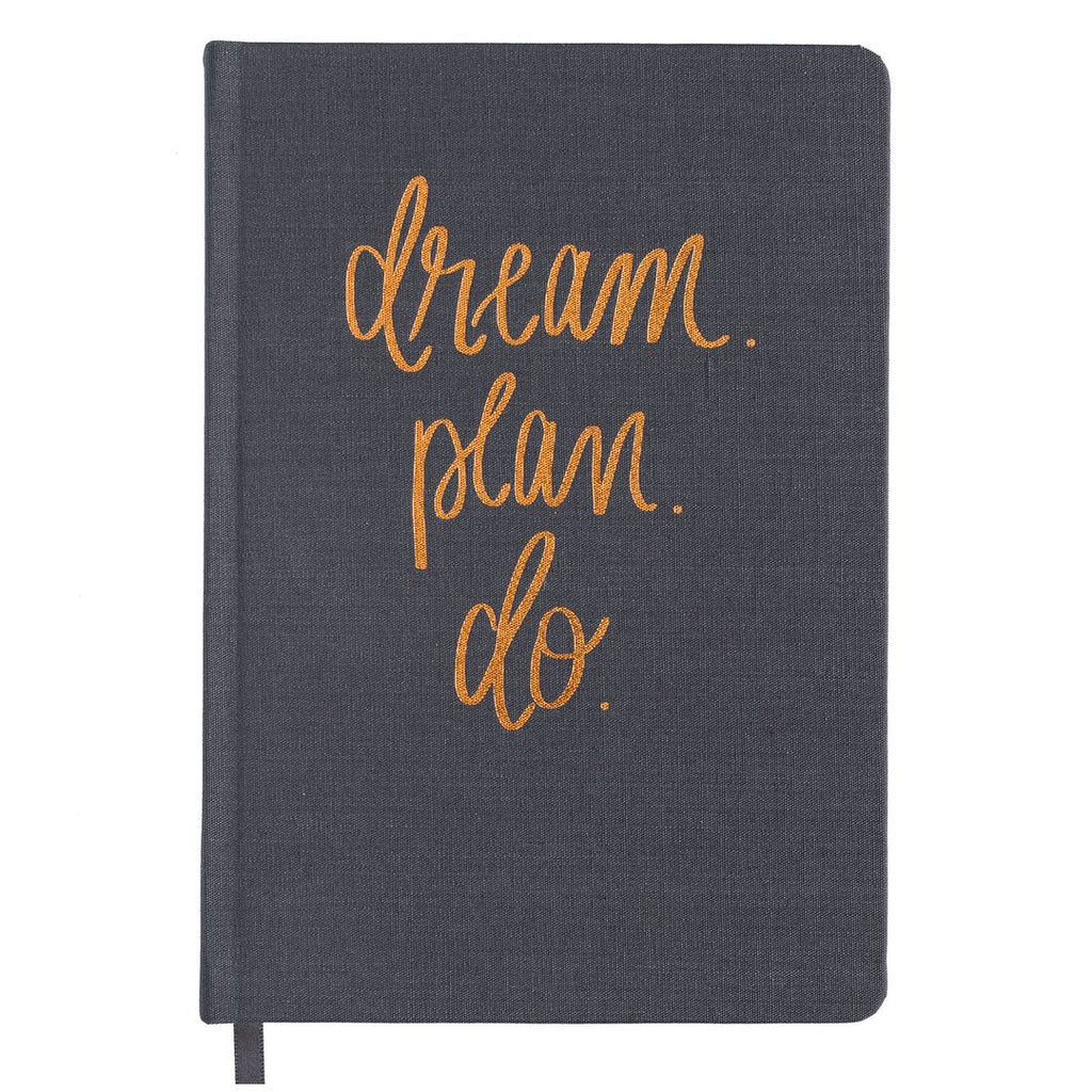Dream plan do grey and rose gold journal