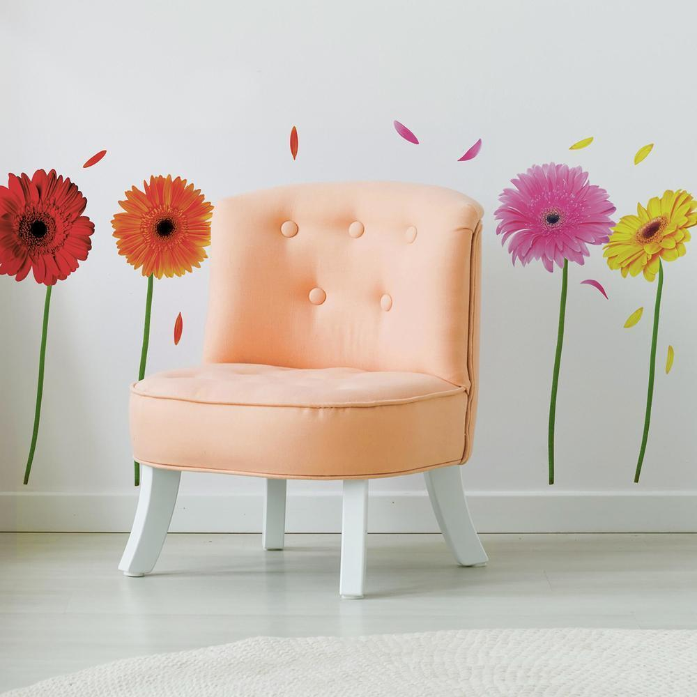 Gerber Daisies Wall Decals.. Just peel it and stick it and create your own  garden