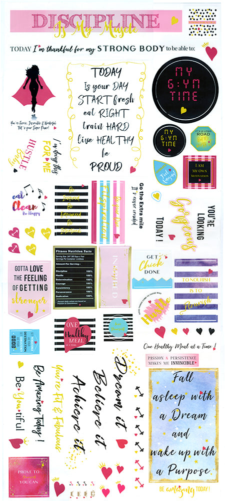 Decals Sheet Showing ( 70 pieces )