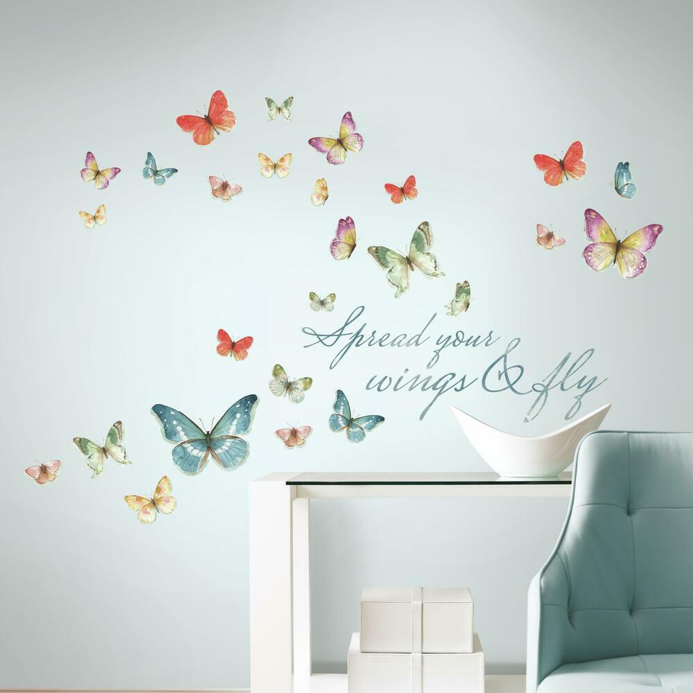 Butterfly Quote Wall Decals are perfect for any room in your home