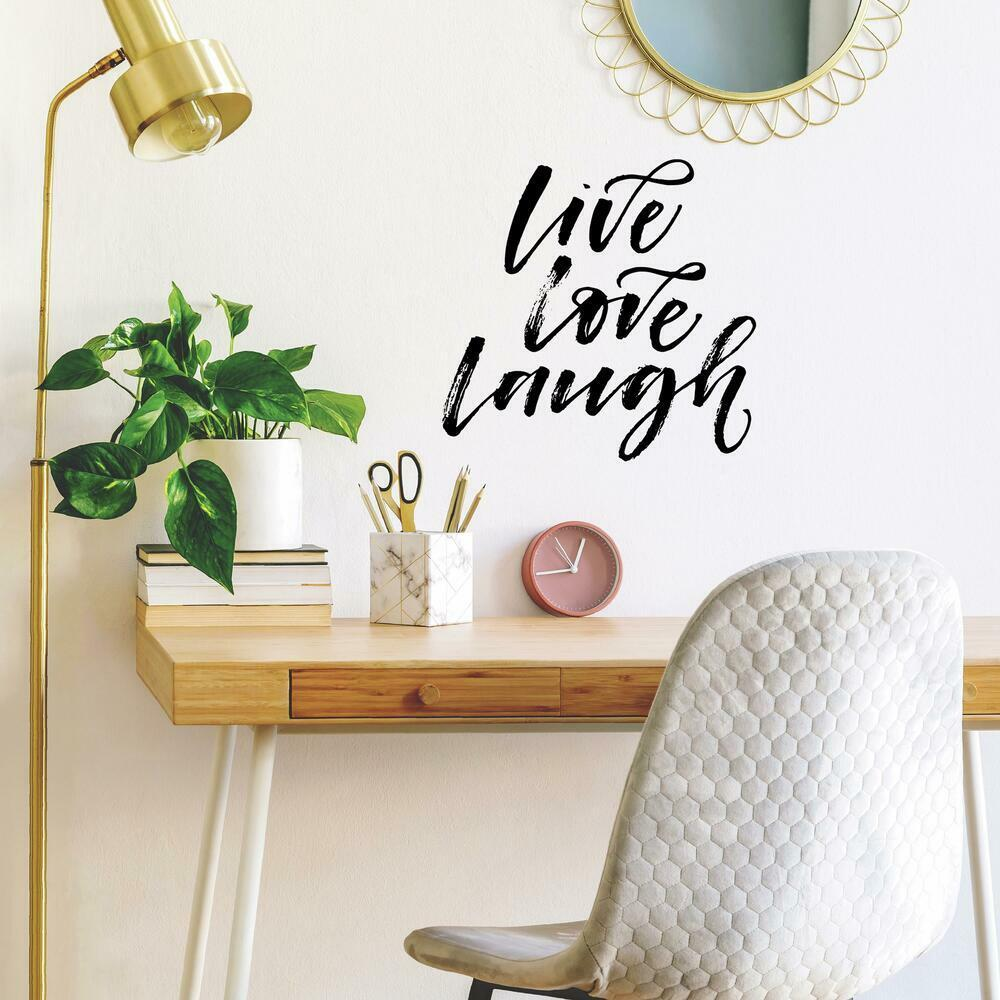 Live Laugh Love Script Peel and Stick Wall Decals perfect for any wall in your home