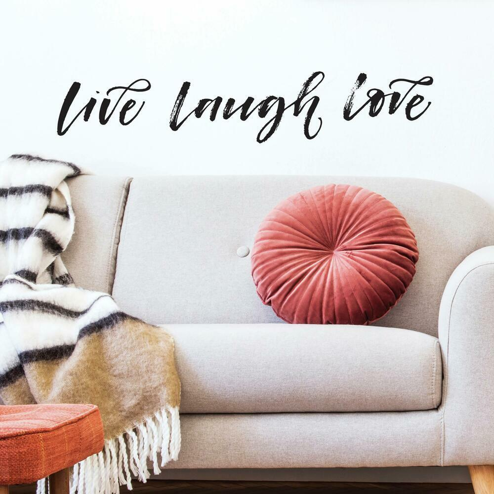 Live Laugh Love Script Peel and Stick Wall Decals